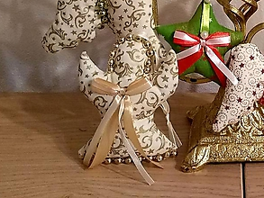 Dekorácie - Vianočné ozdoby (Anjel Zlatý vzor MIX) - 11283609_