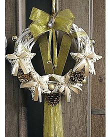 Dekorácie - Vianočný venček (Luxusný zlatý) - 11284145_