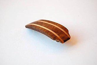 Ozdoby do vlasov - Drevená spona do vlasov - Orechovo - buková malá 1 - 11283463_