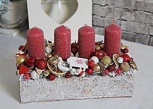 Dekorácie - Adventný svietnik v kôrovom obale 28cm - 11281759_