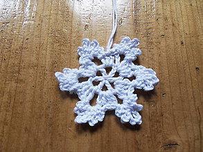 Dekorácie - Háčkovaná snehová vločka - vianočná dekorácia - biela - 1ks - 11279510_