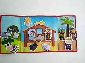 Hračky - Betlehem s maňuškami - 11280197_