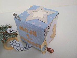 Hračky - Moje prvé Vianoce - didaktická kocka - 11284239_