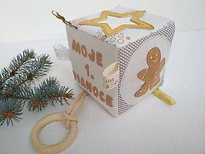 Hračky - Moje prvé Vianoce - didaktická kocka - 11284468_