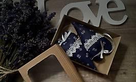 Dekorácie - Srdiečka v modrom šate. - 11285143_