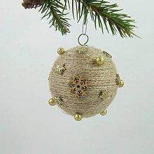 Dekorácie - GAIA - vianočná dekorácia - gule a zvonček (guľa ø 6,5 cm) - 11283243_