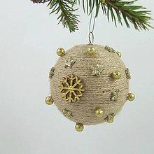 Dekorácie - GAIA - vianočná dekorácia - gule a zvonček (guľa ø 7,5 cm) - 11283265_