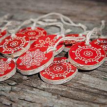 Dekorácie - Recy vianočné ozdoby malé 2 - 11285228_