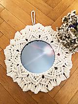 Zrkadlá - Makramé zrkadielko - 11281493_