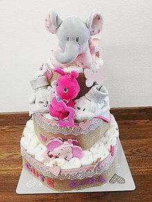 Detské doplnky - Plienková torta Cute Girl - 11282792_