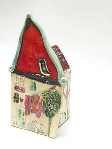 Svietidlá a sviečky - svietnik dom (Červená) - 11282511_