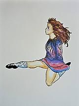 Obrazy - Írske tance 2, akvarel - 11280800_