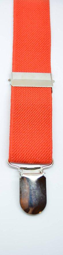Doplnky - Pánske dospelácke tráky jedoduché  (Oranžovo červená) - 11283344_