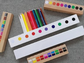 Detské doplnky - Veľký Pastelkovník - ručne maľovaný biely - 11285008_