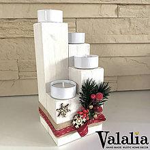 Dekorácie - Adventný vianočný svietnik - 11279989_