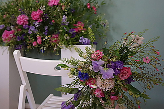 Dekorácie - Výzdoba svadobných stoličiek - 11283083_