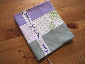 """Úžitkový textil - Obal na knihu """"Lavender"""" - 11280905_"""