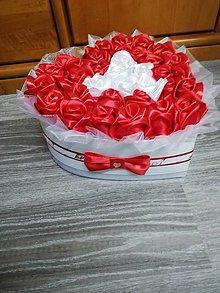 Nezaradené - Box ruží srdce - 11280343_