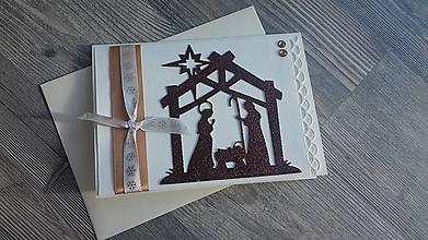 """Papiernictvo - ... pohľadnica vianočná """"Tichá noc, svätá noc""""... - 11284897_"""