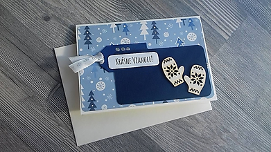 """Papiernictvo - ... pohľadnica vianočná """"Rukavičky""""... - 11285158_"""