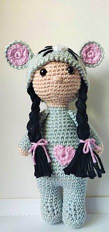 Hračky - Háčkovaná bábika - myška - 11283830_