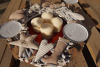 Dekorácie - ZĽAVA !!!adventný veniec zo šitými ozdobami - 11279680_