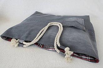 Veľké tašky - riflova plazova taska - 11281857_