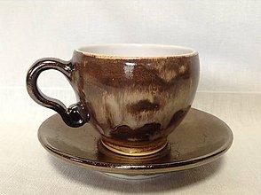 Nádoby - Espresso hnedý melír - 11281298_