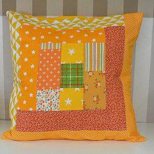 Textil - Vankúš Lesní kamoši (Vankúš Žltá jeseň) - 11280043_