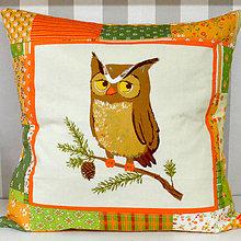 Textil - Vankúš Lesní kamoši (Vankúš Sova) - 11280783_