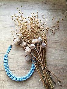 Náhrdelníky - Svetlomodý náhrdelník - 11282864_