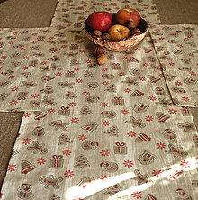 Úžitkový textil - Vianočné prestieranie (Béžové perníčky) - 11283936_