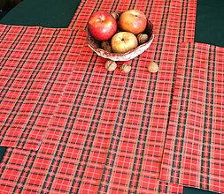 Úžitkový textil - Vianočné prestieranie (Červeno-zeleno-zlaté) - 11283940_