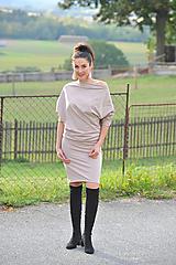 Šaty - Šaty MEDA - béžové - 11281294_