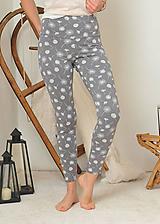 Nohavice - Legíny s vysokým pasem - pampelišky - 11282141_