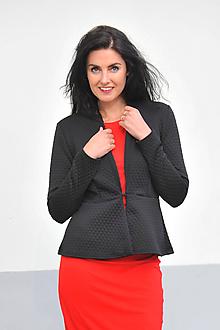 Kabáty - Černé úpletové sako, vel. S/M - 11281620_