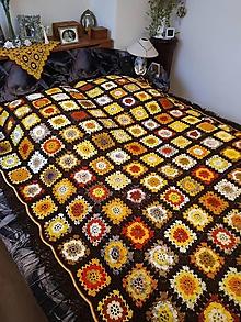 Úžitkový textil - Oranžáda s čokoládou 1,9 x 2,5 m, deka - 11282193_