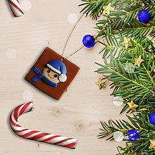 Dekorácie - FIMO vianočné ozdoby čokoládky (chlapec) - 11283280_