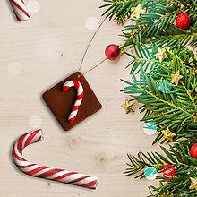 Dekorácie - FIMO vianočné ozdoby čokoládky (lízatko) - 11283299_