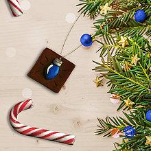 Dekorácie - FIMO vianočné ozdoby čokoládky (vianočná žiarovka) - 11283395_