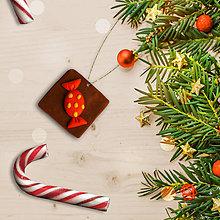 Dekorácie - FIMO vianočné ozdoby čokoládky (salónka) - 11283399_