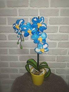 Dekorácie - Orchidea v modrom - 11286753_
