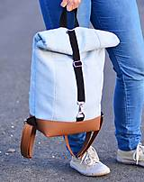 Batohy - RollTop ruksak Rolly (babyblue) - 11287812_