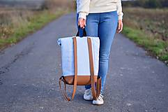 Batohy - RollTop ruksak Rolly (babyblue) - 11287813_