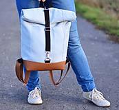 Batohy - RollTop ruksak Rolly (babyblue) - 11287814_