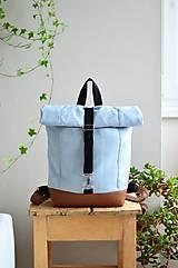 Batohy - RollTop ruksak Rolly (babyblue) - 11287819_