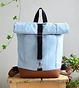 Batohy - RollTop ruksak Rolly (babyblue) - 11287820_