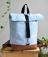 Batohy - RollTop ruksak Rolly (babyblue) - 11287821_