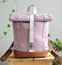 Batohy - RollTop ruksak Rolly (staroružový) (So zipsovým zapínaním) - 11287696_
