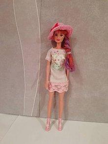 Hračky - Šaty s klobúčikom pre bábiku Barbie - 11289287_